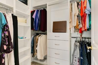 reorganizing your closet